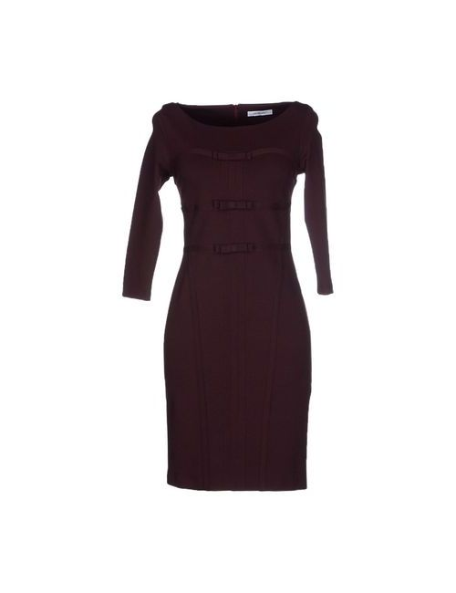 Cristinaeffe | Женское Баклажанное Короткое Платье