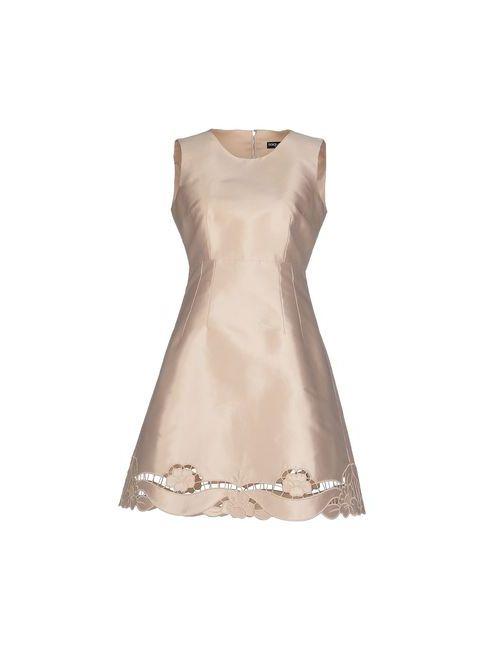 Dolce & Gabbana | Женское Бежевое Короткое Платье