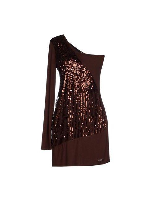 MET | Женское Коричневое Короткое Платье