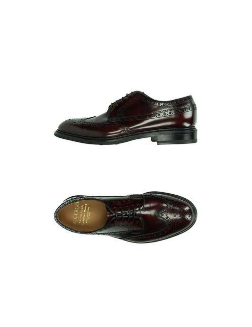 Il Gergo | Мужская Баклажанная Обувь На Шнурках