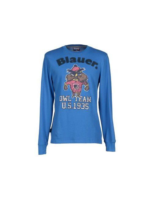 Blauer | Мужская Лазурная Футболка
