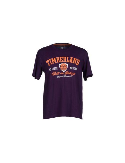 Timberland | Мужская Фиолетовая Футболка