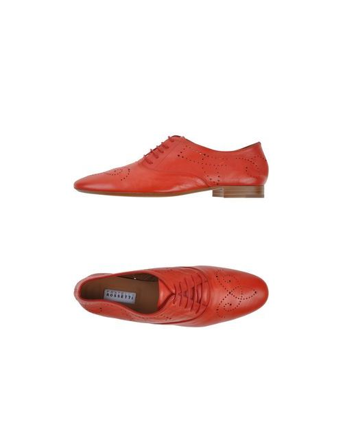 Fratelli Rossetti | Женская Красная Обувь На Шнурках