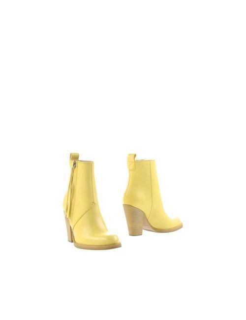 Acne | Женские Жёлтые Полусапоги И Высокие Ботинки