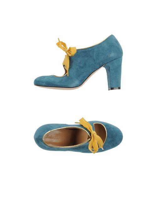 Juliette Vico | Женская Цвет Морской Волна Обувь На Шнурках