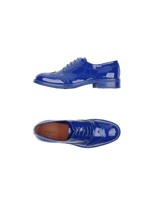 Max & Co.   Женская Синяя Обувь На Шнурках