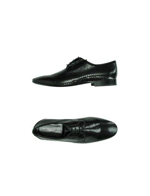 Alessandro Dell'Acqua | Мужская Чёрная Обувь На Шнурках