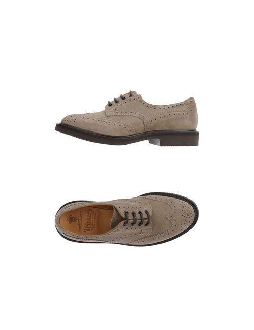 Tricker'S | Мужская Серая Обувь На Шнурках