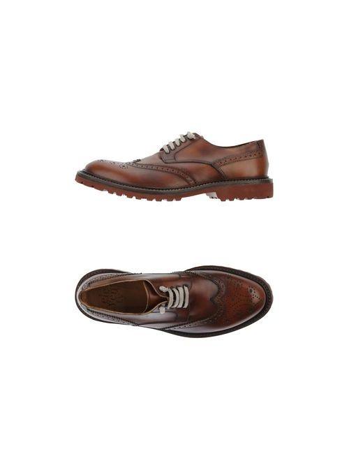 Eleventy | Мужская Коричневая Обувь На Шнурках