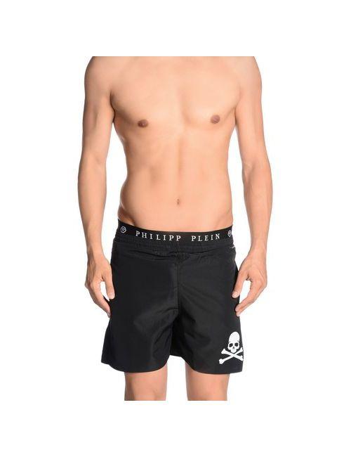 Philipp Plein Homme | Мужские Чёрные Шорты Для Плавания