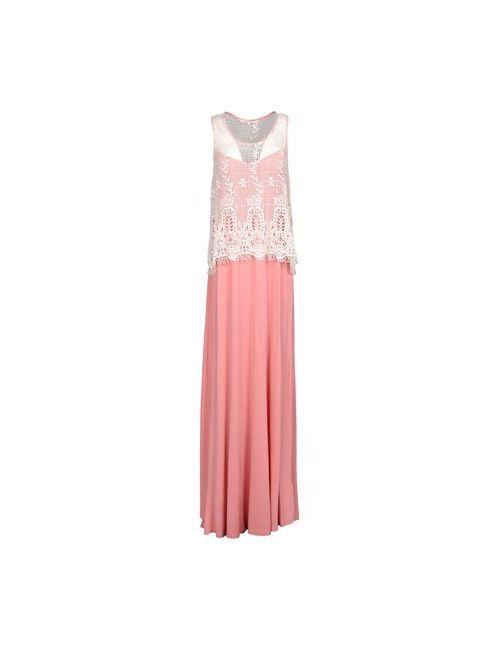 Silvian Heach | Женское Розовое Длинное Платье
