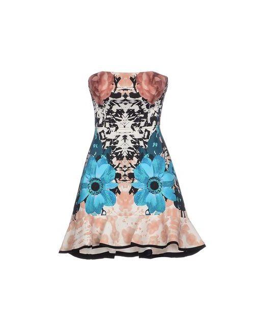 Pinko Black | Женское Розовое Короткое Платье