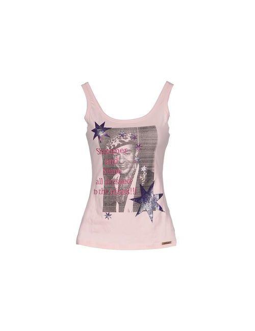 Galliano | Женская Розовая Майка