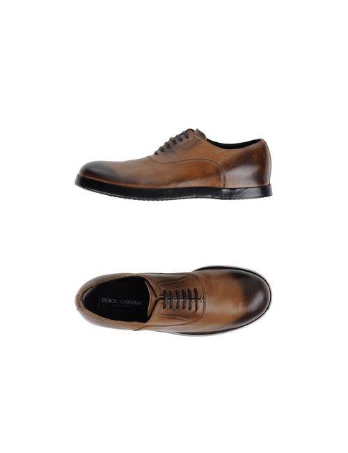 Dolce & Gabbana | Мужская Коричневая Обувь На Шнурках