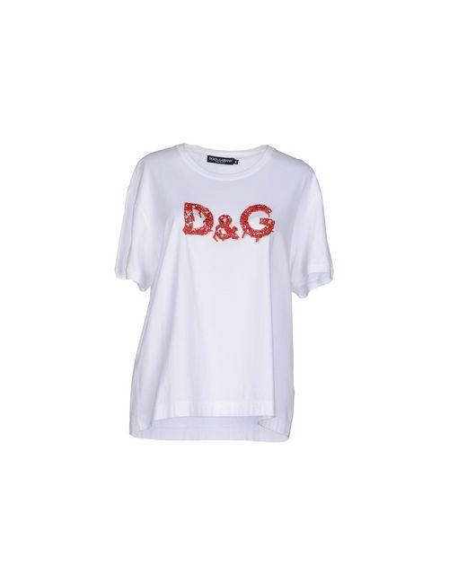 Dolce & Gabbana | Женская Слоновая Кость Футболка