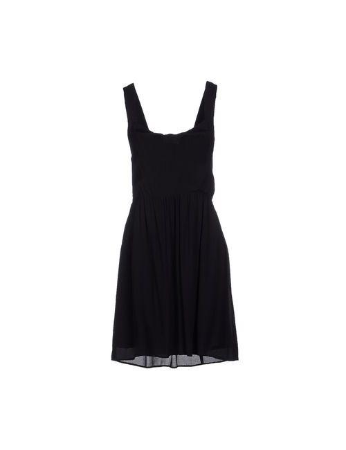 Naf Naf | Женское Чёрное Платье До Колена