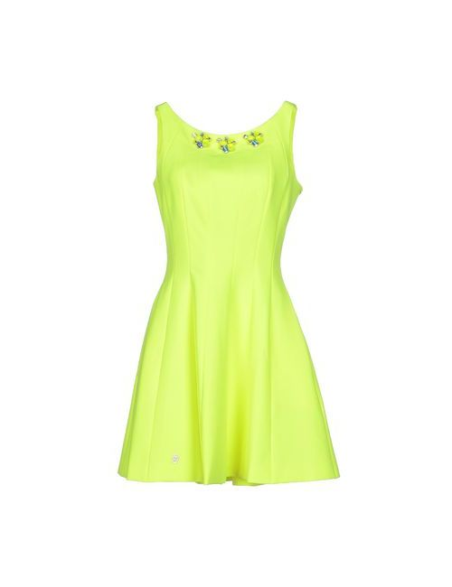 Philipp Plein Couture | Женское Зелёное Короткое Платье