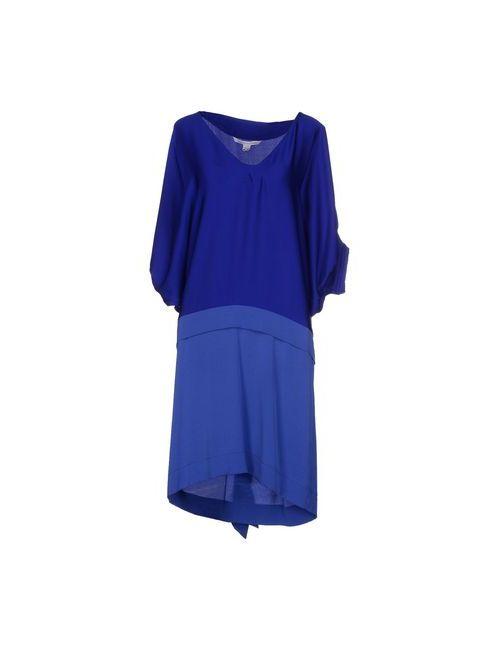 Diane Von Furstenberg | Женское Синее Платье До Колена