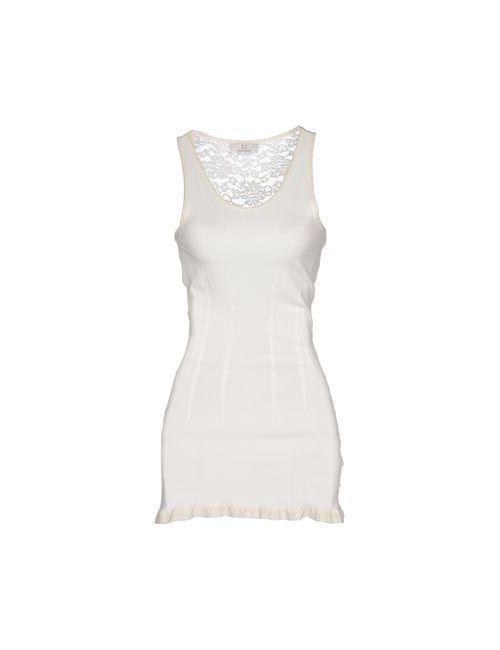 Swap Inside   Женское Слоновая Костящее Короткое Платье