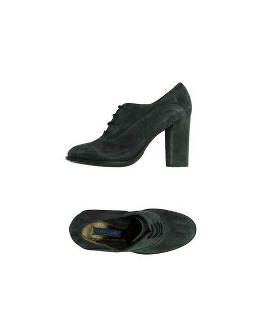 Janet & Janet | Женская Серая Обувь На Шнурках