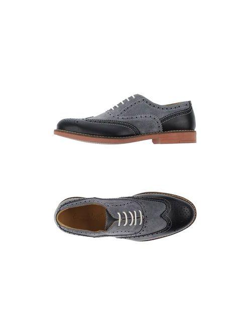 Emanuele Monti | Мужская Черный Обувь На Шнурках