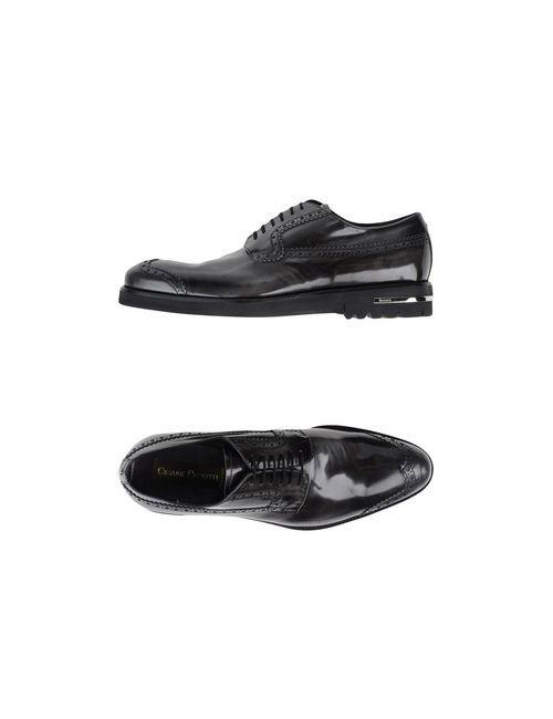 Cesare Paciotti | Мужская Серая Обувь На Шнурках