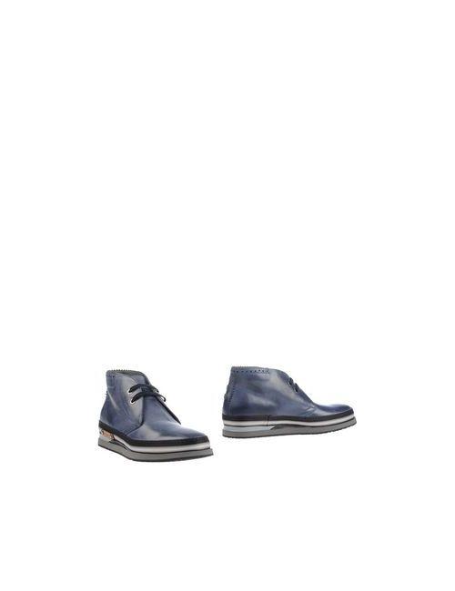 Cesare Paciotti   Мужские Синие Полусапоги И Высокие Ботинки