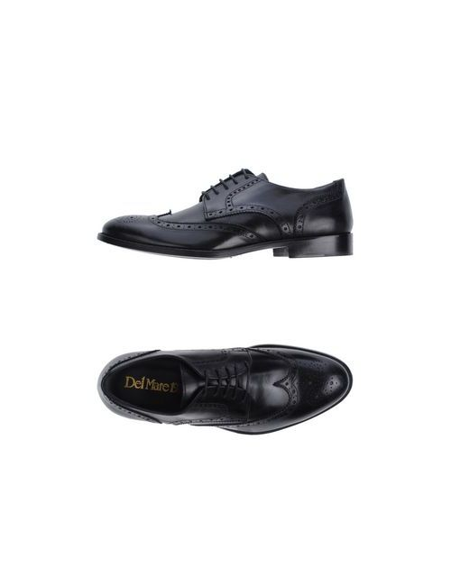Del Mare 1911   Мужская Черный Обувь На Шнурках