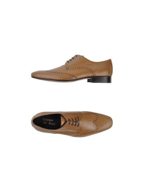 Giorgio Ricci | Мужская Верблюжья Обувь На Шнурках