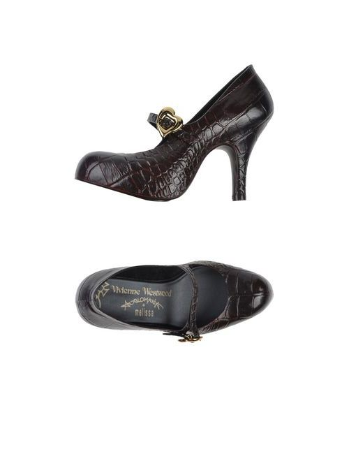 Vivienne Westwood Anglomania + Melissa   Женские Коричневые Туфли