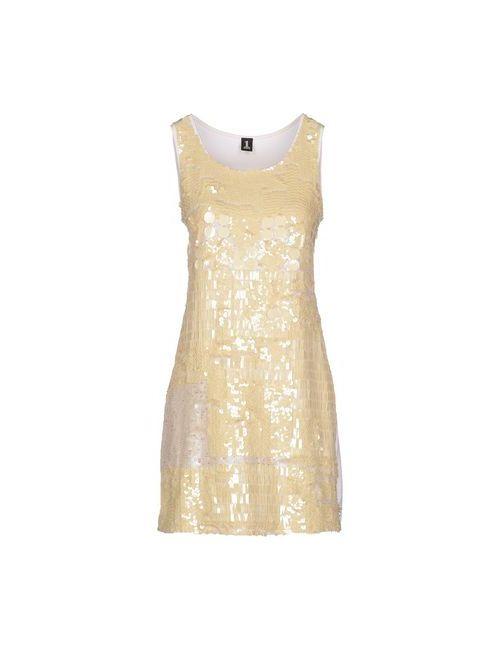1 one | Женское Слоновая Костящее Короткое Платье