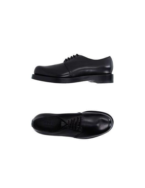 Gucci | Мужская Чёрная Обувь На Шнурках