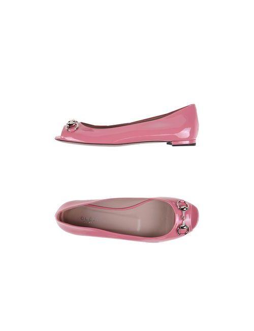 Gucci | Женские Розовые Балетки