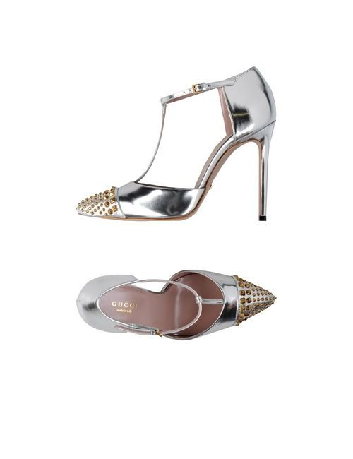 Gucci | Женские Серебристые Туфли