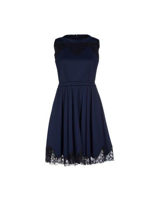 Pf Paola Frani | Женское Синее Короткое Платье