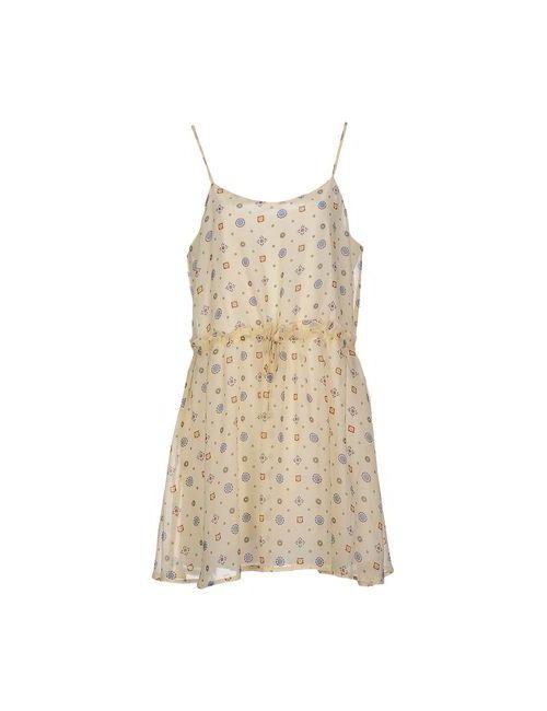 Cutie | Женское Бежевое Короткое Платье