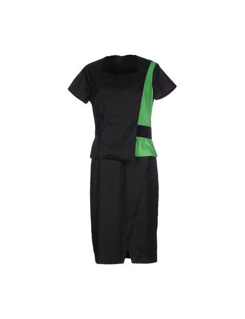 Oblique | Женское Зелёное Платье До Колена