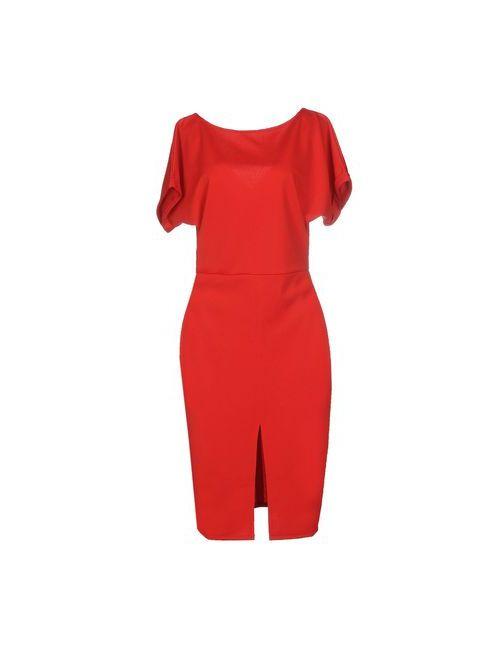 MAIOCCI   Женское Красное Платье До Колена