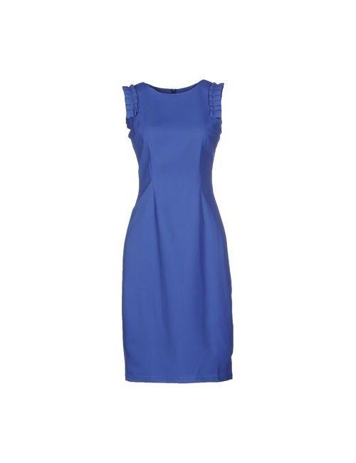 MAIOCCI   Женское Синее Платье До Колена