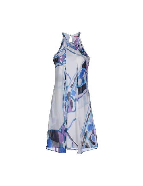 Éclà | Женское Синее Платье До Колена