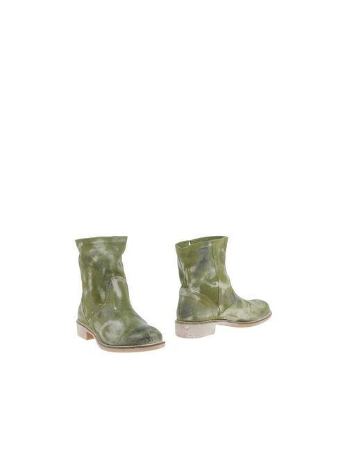 Creative | Женские Зелёные Полусапоги И Высокие Ботинки