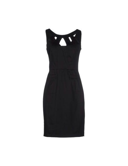 Biancoghiaccio | Женское Чёрное Короткое Платье