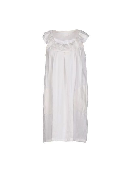 120% Lino | Женское Белое Короткое Платье