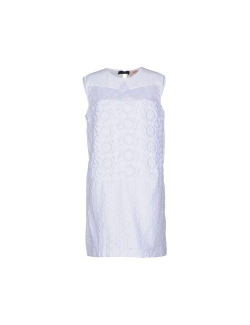 No21 | Женское Белое Короткое Платье