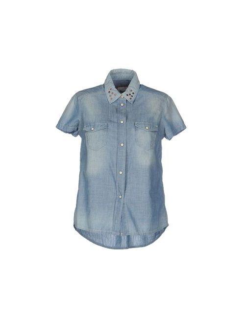 Pepe Jeans | Женская Синяя Джинсовая Рубашка