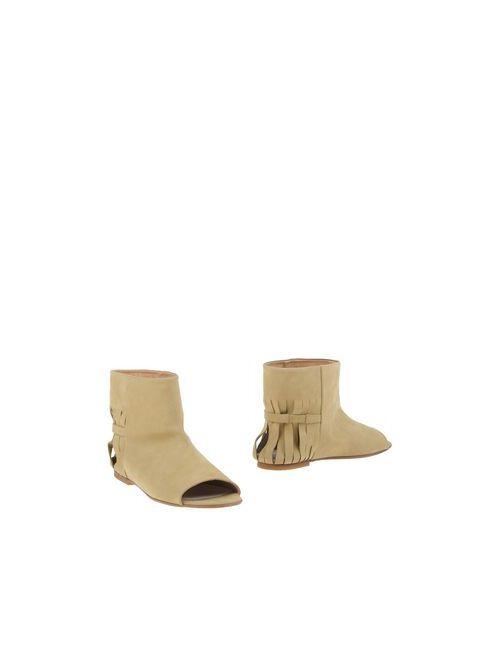 Maison Margiela | Женские Зелёные Полусапоги И Высокие Ботинки