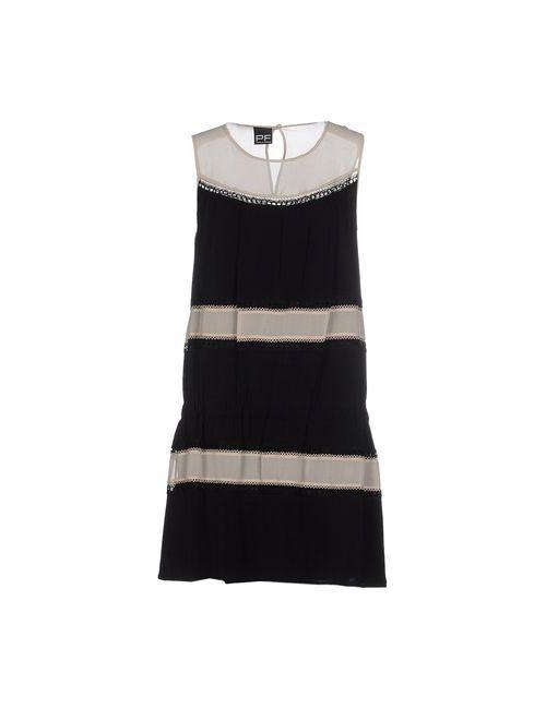 Pf Paola Frani | Женское Чёрное Короткое Платье