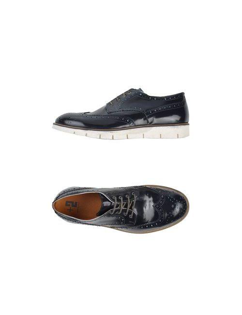 +2 Made In Italy | Мужская Синяя Обувь На Шнурках