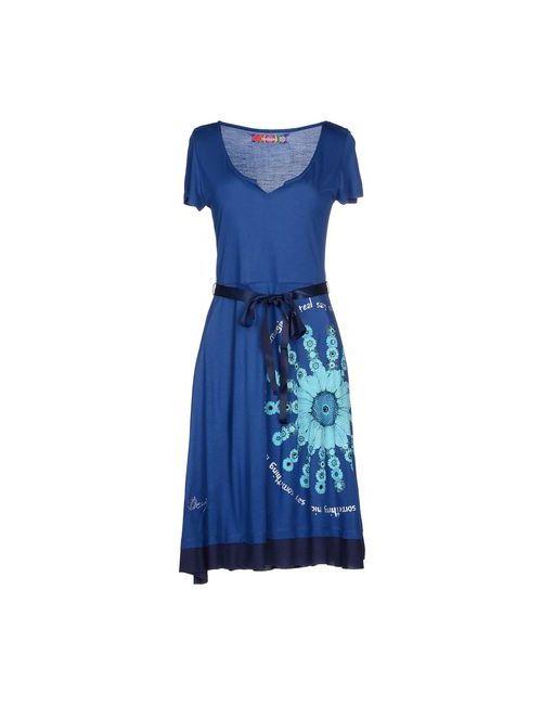 Desigual | Женское Синее Короткое Платье