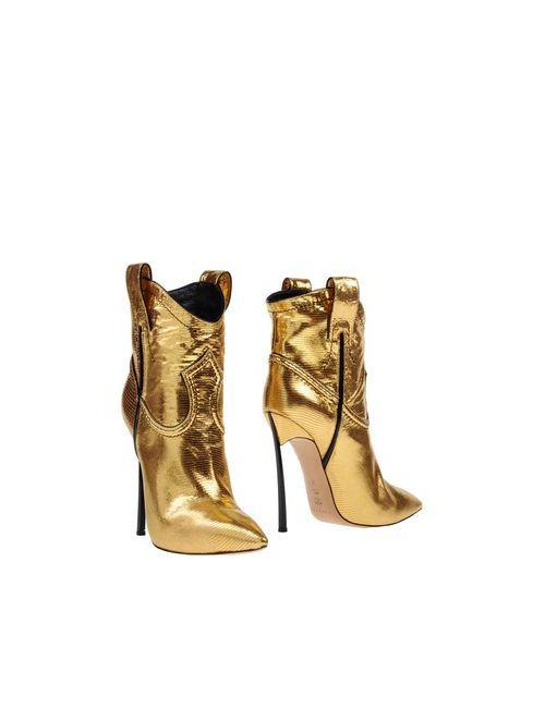 Casadei | Женские Золотистые Полусапоги И Высокие Ботинки